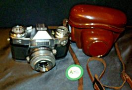 Zeiss Ikon Contaflex Super Camera with hard leather Case AA-192013 Vintage image 8