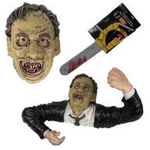 LIFESIZE LEATHERFACE 3-D FIGURE TEXAS CHAINSAW MASSACRE HALLOWEEN DISPLA... - €140,32 EUR