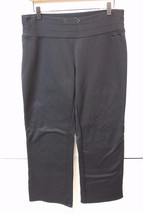 A4439 Womens COLUMBIA SPORTSWEAR Titanium black bootcut zip-pocket YOGA ... - $27.00