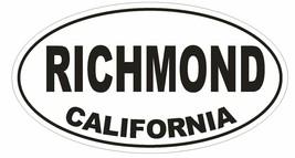 Richmond California Oval Bumper Sticker or Helmet Sticker D2811 Euro Oval - $1.39+