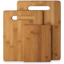 Cutting Board Set 3 Piece Bamboo Kitchen Butcher Chopping Block Cooking ... - $26.88 CAD