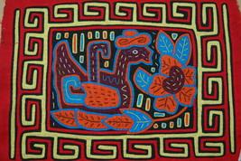 Indian Kuna Tribe Mola Hand Stitched Applique Folk Art Bird Duck Panama ... - $47.49