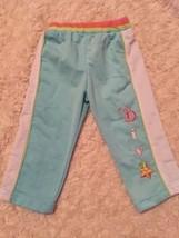 Mon Petit Girls Blue White Pink Athletic Pants Baby Diva Star 6-9 Months - $3.00