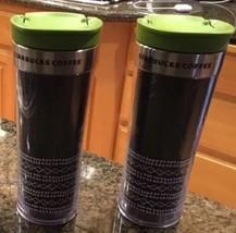 2- Starbucks Coffee Travel Tumbler Cups- Brown Green Mugs Java Tea 16 oz - $48.21