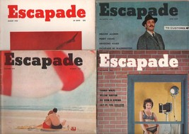 Escapade-Vintage Man's Magazine Lot of 15 1950's-cheesecake-pulp fiction-VG - $418.31