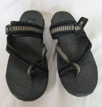 Skechers Outdoor Lifestyle Black Flip Flop Sport Sandals size 9 Good Con... - £15.65 GBP
