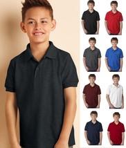 GILDAN Youth Unisex DryBlend Pique Jersey Sport Shirt Polo G94800B 94000-8 COLOR - $7.91+