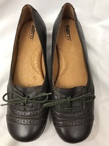Womens Size 8/39 BORN Ballerina Slip On Ballet Flat With Lace-Up Brown - $29.69