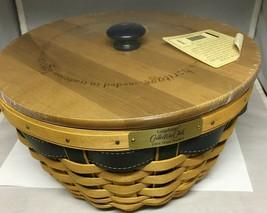 Longaberger 2004 Collectors Club Ware Basket Liner Protector & Engraved Lid - $58.75