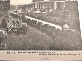Vintage Stereoscope Card Sears & Roebuck #45 Sunken Gardens & Pergola - $4.89