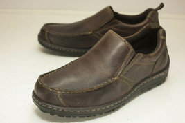 Hush Puppies Belfast Size 8.5 EW Brown Slip On Men's Dual Fit - £33.98 GBP