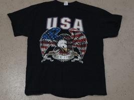 Vintage Bald Eagle USA Flag Glory 4th July Patriotic T Shirt  - $10.79