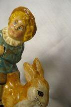 Vaillancourt Folk Art Limited Ed. Boy on Rocking Rabbit signed by Judi! image 5