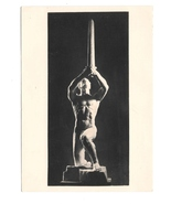 Schwertweihe Sculpture Sword Song Artist Ernst Wilhelm Kubiena Austria P... - $6.69