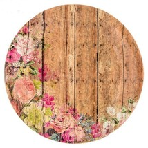 Wood Plank and Floral Tableware (Plates Napkins Cups Table Covers) (SERV... - $51.23