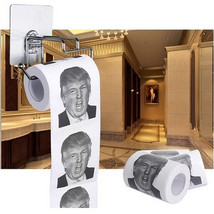 Donald Trump Humour Toilet Paper Roll Novelty Funny Gag Gift Dump with T... - $5.15