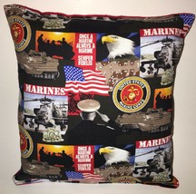 Marines Pillow United States Marines Pillow Patriot Pillow HANDMADE in USA - $9.97