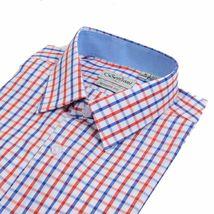 Berlioni Italy Men's & Boys Premium Yarn Dyed Luxe Cotton Dress Shirt Modern Fit image 13