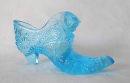 Fenton Blue Daisy and Button Cathead Slipper - $14.00