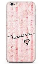 Case Warehouse iPhone 6 Plus Case, Personalised Custom Name Rose Marble ... - $9.75