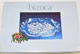 Mikasa Bianca Clear Glass Canape Tray Serving Dish Platter Floral 4310/9... - $34.65