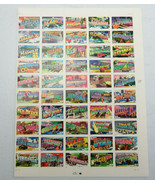2001 Sheet Of 50 Stamps Greetings from AMERICA of all 50 US States 37 cent - $25.00