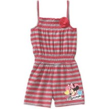 Disney Infant/Toddler Girls Minnie Mouse Romper Stripe Shorts Size 24 Mo... - $9.74