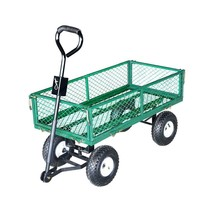 Garden Beautification Tool Steel Utility and Yard Cart with Removable Me... - $106.99