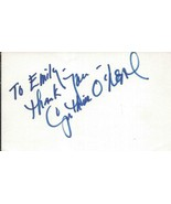 Cynthia O'Neal Signed 3x5 Index Card Carnal Knowledge Primary Colors Wolf - $49.49