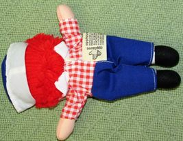 """8"""" KNICKERBOCKER RAGGEDY ANN ANDY Vintage Applause Dolls Embroidered Eyes TAIWAN image 3"""