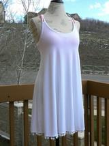Short dress w/pom pom hemline by Asos, white color, size 12UK/8US/40EU - $17.33