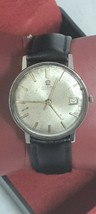 Auto men Omega seamaster date @ 3 Cal 562 24 Jewels Lovely Patina silver dial - $495.00