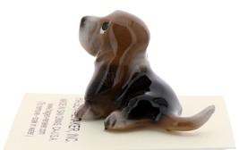 Hagen-Renaker Miniature Ceramic Dog Figurine Basset Hound Pups Sitting and Lying image 6