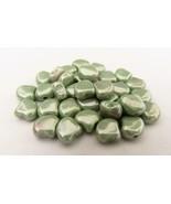 20 7.5 x 7.5 mm Czech Glass Matubo Ginkgo Leaf Beads: Luster - Chalk Lig... - $1.56