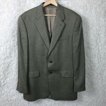 LRL Ralph Lauren Silk Wool 2 Button Sport Coat Jacket Gray Herringbone Mens 40L - $56.42