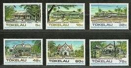 TOKELAU  1985 Very Fine Mint Hinged Stamps Scott#  120-125 - $3.00