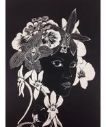 Orchid Deva 1980 * Asenath Black & White Lithograph Print Poster HIPSTER... - $113.84