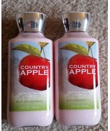 DISCONTINUED Lot of 2X New Bath & Body Works COUNTRY APPLE Body Lotion 8... - $26.41