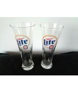 2  Miller Light Tall Beer Glasses - $9.89