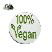 100% Vegan, lapel pin/ tie tac etc, comes in gift box