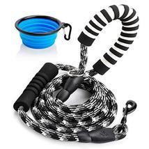 Toozey 6 FT Dog Leash with 2 Padded Handle, Reflective Nylon Rope Leashes for Me image 2