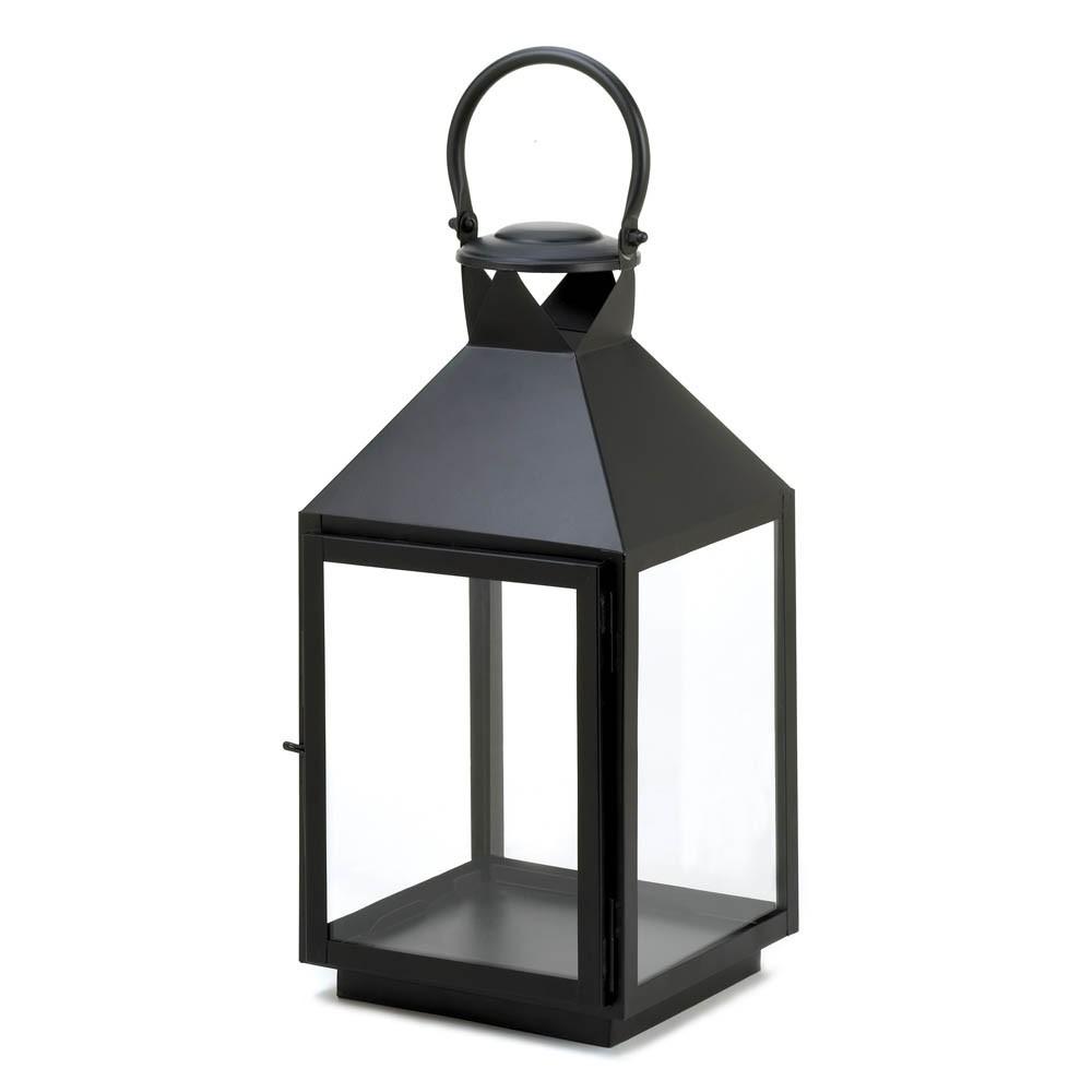 Large Classic Black Candle Lantern