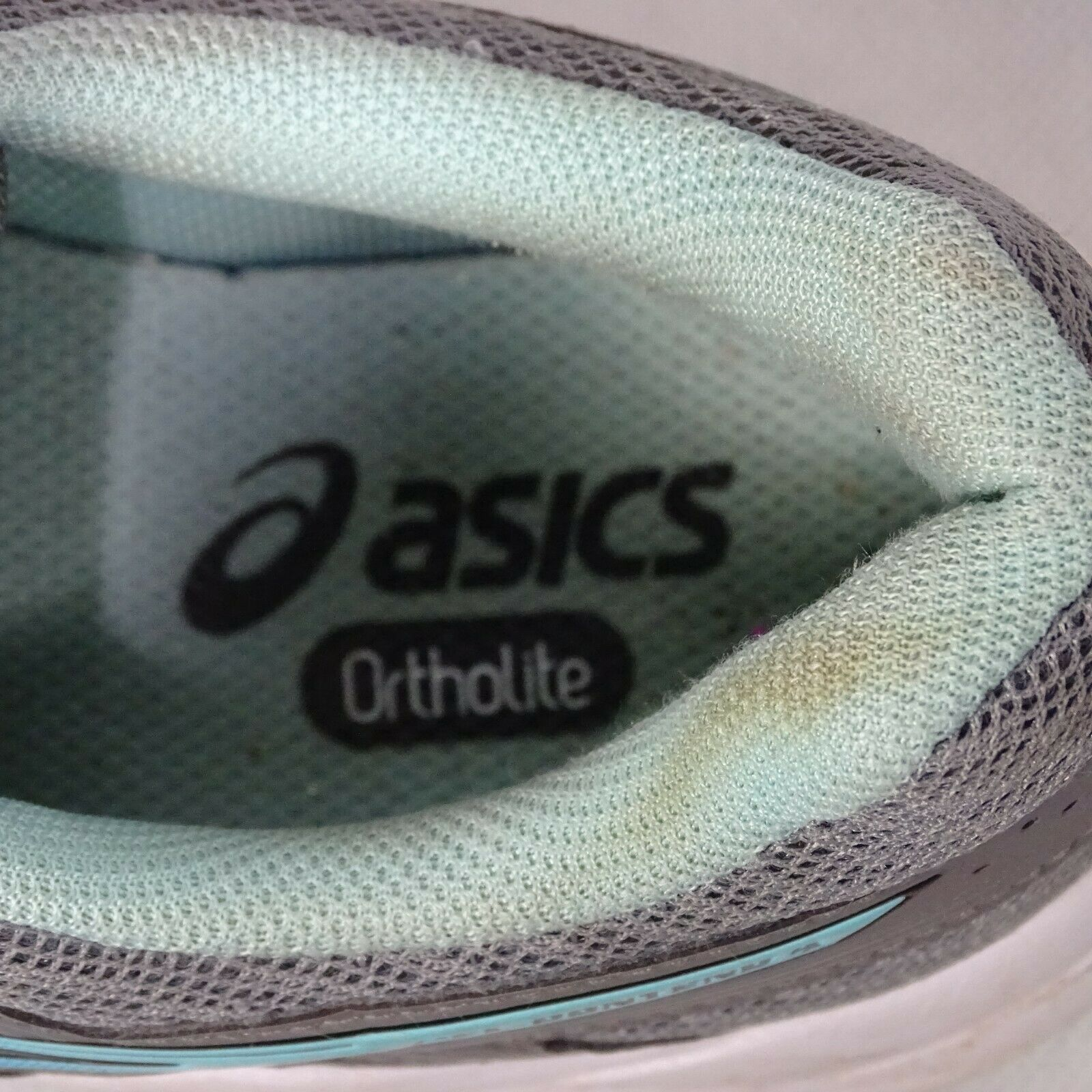 Asics Gel-Contend 4 Ortholite Sneakers Shoes Mesh Women Size 7 Gray Blue T767Q image 4