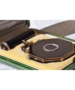 Antique Cartier Paris enamel compact case and lipstick case or snuff box - $19,500.00