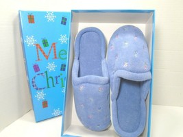 Isotoner Women's Terry Embroidered Clog, Periwinkle 7.5-8 - $18.69
