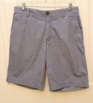 Izod Men's Shorts Size 30 Light Blue Twill Khaki Shorts Pockets Flat Front - $19.77