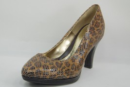 AeroSoft By Sofft Natural Snake Print heels shoes Pumps Size 6 M - $24.18