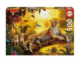 "NEW Educa Jigsaw Puzzle Game 500 Pieces Tiles ""Leopard"" - $29.89"