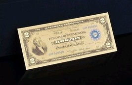 "1 1918 ""GOLD"" $2 DOLLAR Rep.*Banknote~STUNNING TOUCHABLE COLOR D - $11.82"
