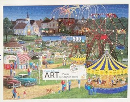 Jigsaw Puzzle Collector Art Series 500 pc Country Fair Persis Clayton Weirs - $19.54